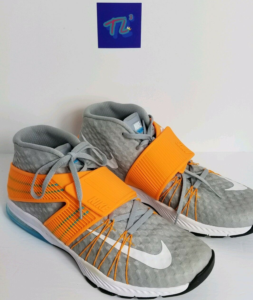 Men's Nike Zoom Train Toranada 835657-018 Sz 10 Wolf Grey orange Light blueee