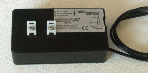 für Smartphone Fahrrad Nabendynamo Ladegerät P5 High Power Charge USB 5V//1A