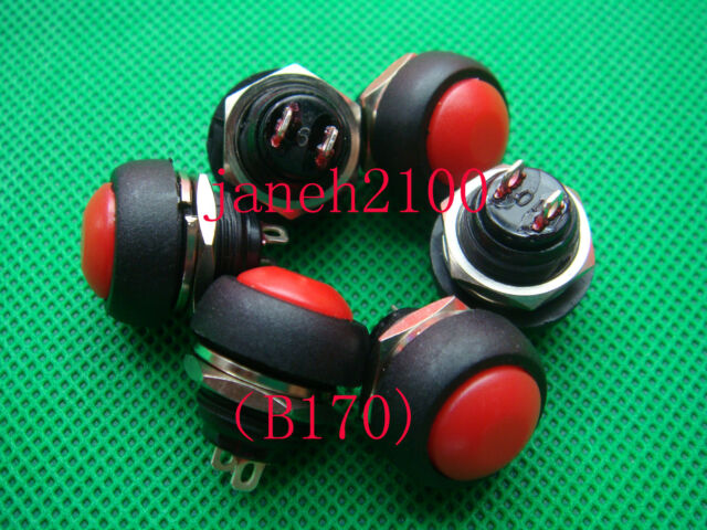 20PC Red// Green// Blue// Black Push Button Horn Switch B170