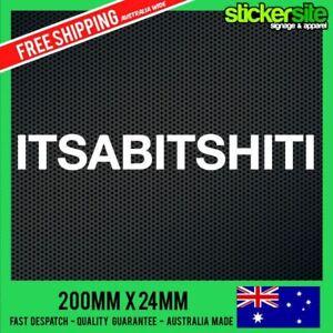 ITSABITSHITI-Sticker-Decal-FUNNY-JDM-DRIFT-CAR-4x4-4WD-MITSUBISHI-TRITON-MAGNA