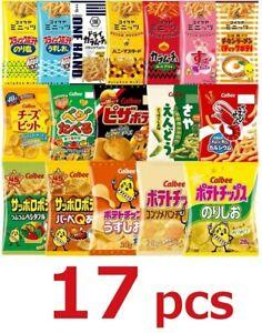 Calbee-Koikeya-Japanese-Potato-Chips-Snack-Box-set-17-pcs-Dagashi-Assortment