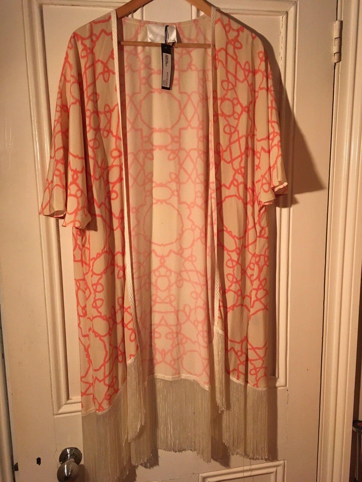Athena anthopoulos Short Fringed Kimono