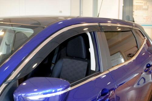 Nissan Qashqai J11 2014 /> Door Wind Deflectors Set of 4 New Genuine KE8004E010