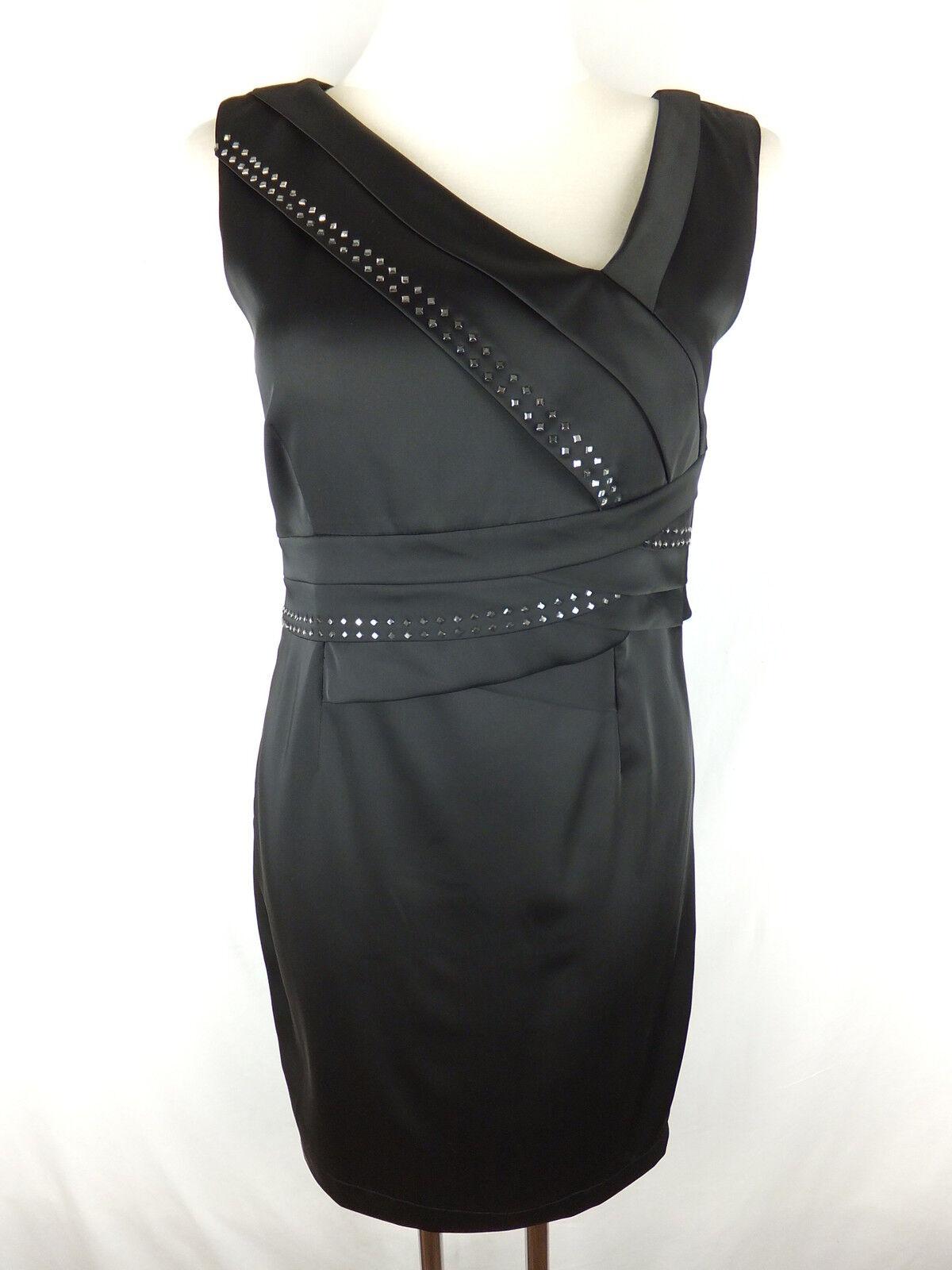 ROCCOBAROCCO Kleid - 38  M - schwarz - neu m. Etikett - mit Nieten - asymetrisch
