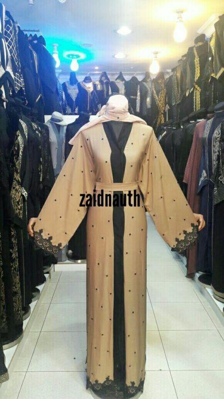 Mujeres Vestido Abaya. Frente Abierto. Jilbab. Burka Arabia Abaya Japonés Neda/lino. Nuevo