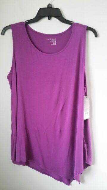6f8c1995cd308 Nwt womens ruff hewn grey purple sleeveless tunic tank top dress shirt plus  jpg 360x640 Purple