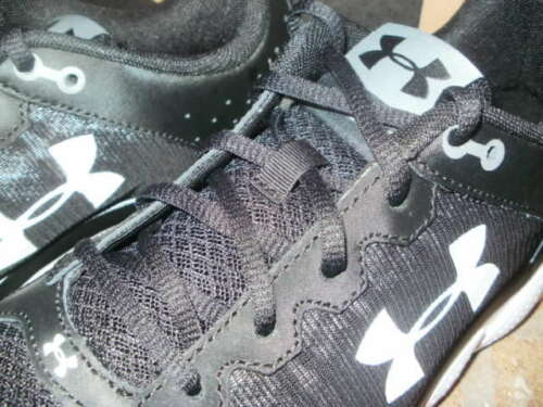 New Under Armour Micro G Assert 6 Training Shoe //Black-White //Select Width $70