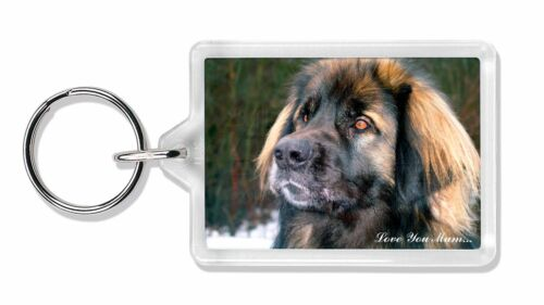 Black Leonberger /'Love You Mum/' Photo Keyring Animal Gift AD-L56lymK