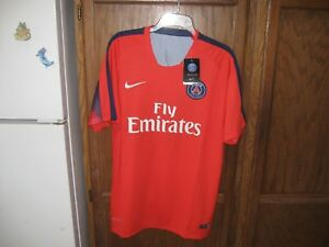 306fc6c7c1c Nike PSG Paris Saint Germain Third 3rd RED SOCCER Jersey 2014 15 SZ ...