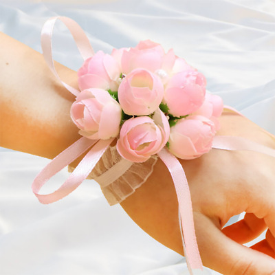 1Pc Artificial Flower Corsage Lint Simulation Flower Brooch Chinese Style Rose B