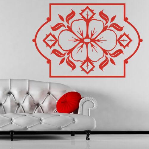 Flower Design in Frame Wall Sticker Decal Transfer Home Nature Matt Vinyl UK
