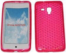 Per Samsung Galaxy Ace Plus GT S7500 PATTERN Gel Custodia Protettiva Cover Rosa Nuovo