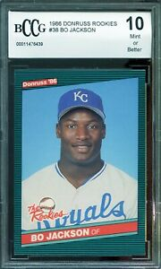 1986-Donruss-Rookies-38-Bo-Jackson-Card-BGS-BCCG-10-Mint