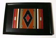 Vtg Couroc Serving Tray Southwest Native American Style 18 x 12 Monterey CA, USA