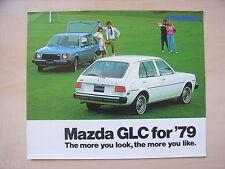Mazda GLC for ´79 (= 323) Prospekt / Brochure / Depliant, USA