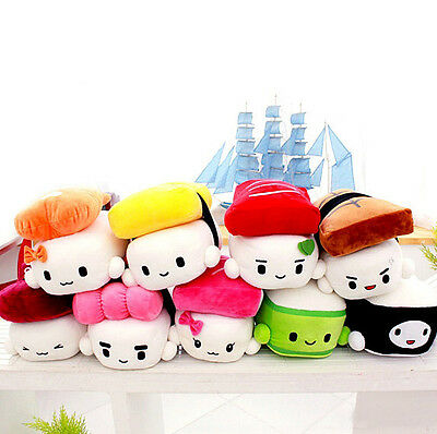 Kawaii Yummy Sushi Friends Stuffed Plush Toy Pillow