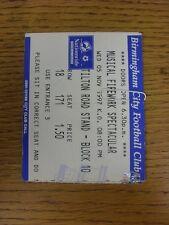 05/11/1997 Ticket: At Birmingham City - Musical Firework Spectacular (folded). G