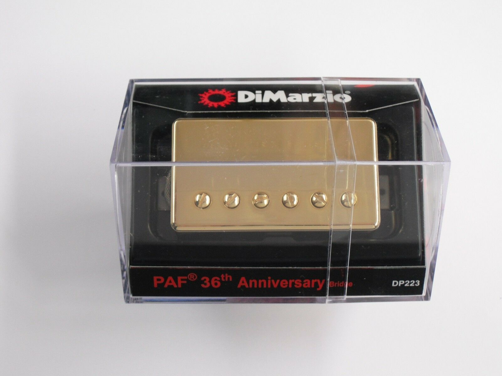 DiMarzio Regular Spaced PAF FULL VINTAGE Bridge W/Gold Cover DP 223