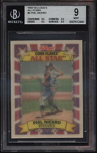 1992-Kelloggs-Corn-Flakes-All-Star-3D-Phil-Niekro-Mint-BGS-9-Subs-9-5-Atlanta