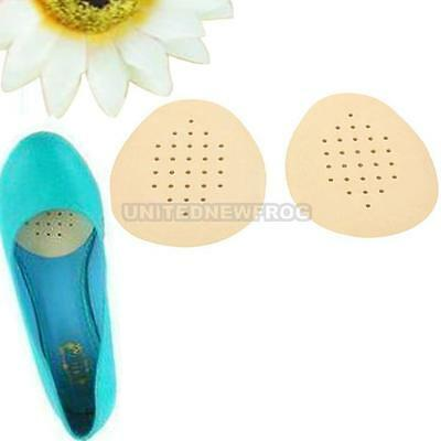 UN3F 1 Pair Latex Soft Anti-slip Half Insole Shoe Pads Cushion Massage Foot Care