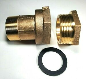 2-034-Water-Meter-Coupling-LEAD-FREE-brass-With-Bushing-for-FEM-thread-meter
