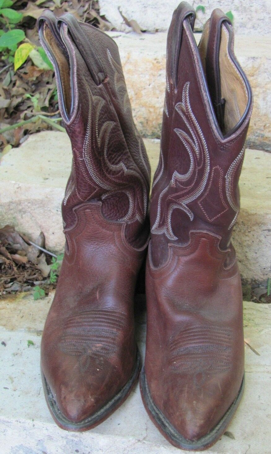 Size 8.5 B Justin Leather Cowboy Boots - womens