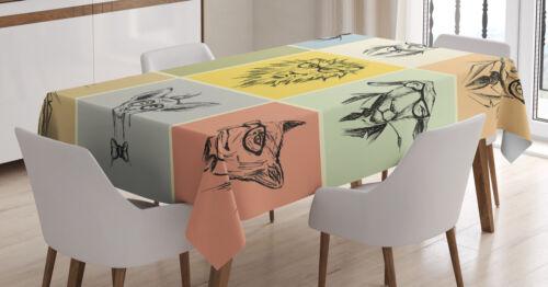 Hipster Affe Kamel Katze Waschbar Tier Tischdecke