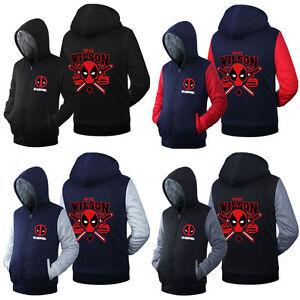 NEW-Costume-Cosplay-DEAD-POOL-Jacket-Sweatshirts-Thicken-Hoodie-Zipper-Coat