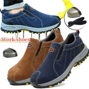Mens-Safety-Shoes-Steel-Toe-Work-Boots-Breathable-Hiking-Climbing-Snakers-Casual