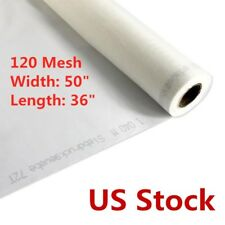 Usa Stock 120 Mesh Silk Screen Printing Mesh Fabric 48t 1 Yard 50 Inches Width