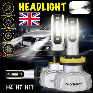 2x-novsight-H4-H7-H11-50W-10000LM-Bombilla-LED-Faros-Kit-Faros-6500K