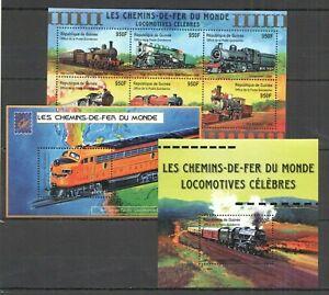 AB1545-GUINEA-TRANSPORT-GREAT-RAILWAYS-OF-WORLD-TRAINS-LOCOMOTIVES-1KB-2BL-MNH