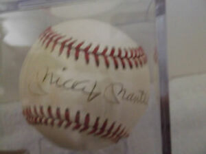Mickey-Mantle-Yankees-Autographed-Official-American-League-Baseball-JSA