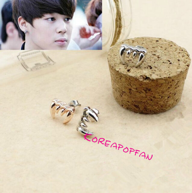 1pair Bangtan Boys kpop BTS earrings jungkook jimin v suga jin jhope KPOP NEW