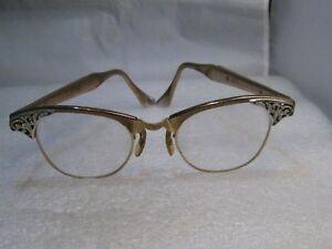 Vintage-Eyeglass-Frames-Art-Craft-1960-039-s-Ladies-12kt-G-F-4-1-4-5-1-2-Rose