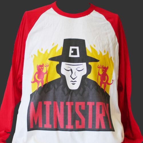 MINISTRY INDUSTRIAL METAL ROCK LONG SLEEVE BASEBALL T-SHIRT S M L XL 2XL 3XL