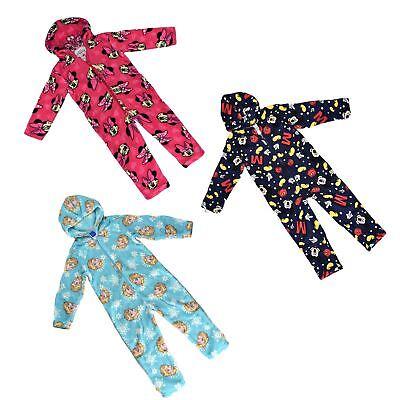New Official Disney Kids jumpsuit Pyjamas Soft Feel Fleece All In One Sleepsuit
