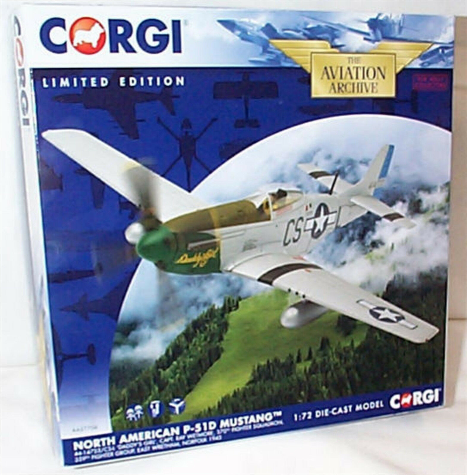 AA27704 CORGI P-51D Mustang -  DADDY'S GIRL  1 72 Die-cast Avion New BOXED