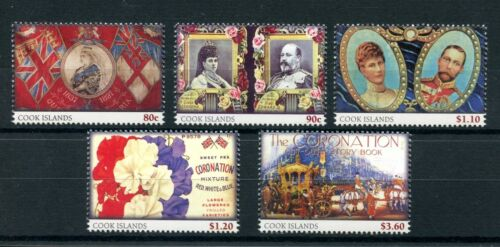 Cook Islands 2013 MNH Coronation Commemoratives 5v Set Queen Elizabeth II Stamps
