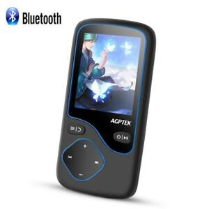 AGPTEK 16GB Bluetooth MP3 Player Portable Lossless with FM Radio Voice Recording