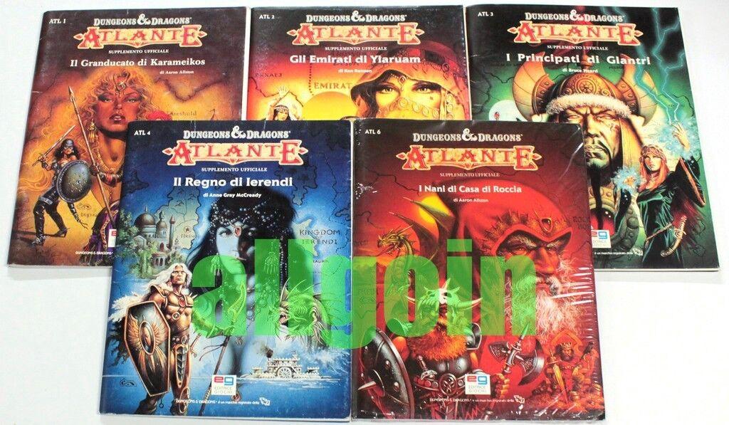 Dungeons & Dragons LOTTO 5 ATLANTI  ITALIANI MYestrellaA GAZETTEER TSR EG D&D RARI  vieni a scegliere il tuo stile sportivo