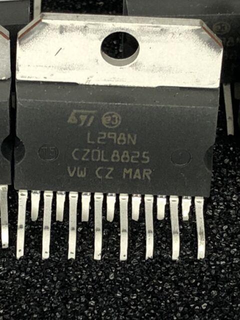 6 x ST MICROELECTRONICS  L298N IC,ST,L298N, Multiwatt-15 DUAL FULL BRIDGE DRIVE