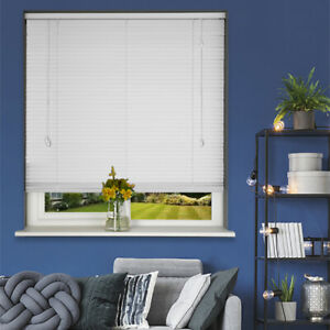 Details About White Wooden Venetian Blind Made To Measure 50mm White Wood Venetian Blinds