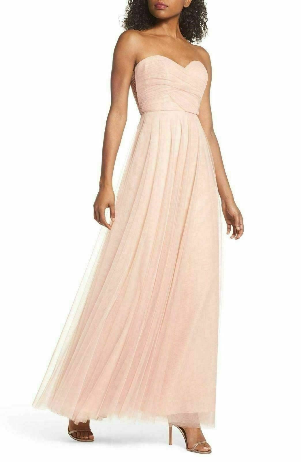 Jenny Yoo Julia Congreenible Soft Tulle Gown Dress SZ 6 () Cameo pink