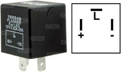 CARGO FLASHER UNIT RELAY INDICATORS 12V FOR LED LIGHT TURN SIGNAL 3 PIN 160949