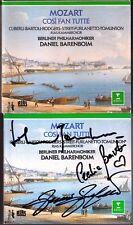 BARTOLI FURLANETTO TOMLINSON Signed MOZART Cosi Fan Tutte BARENBOIM 3CD Cecilia