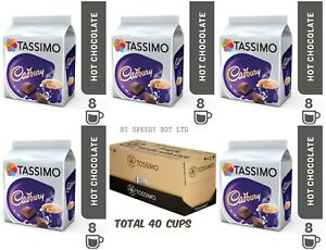 Details About Tassimo T Discs Cadbury Hot Chocolate Pods 5 X 8 Drinks 40 Cups Coffee Machine