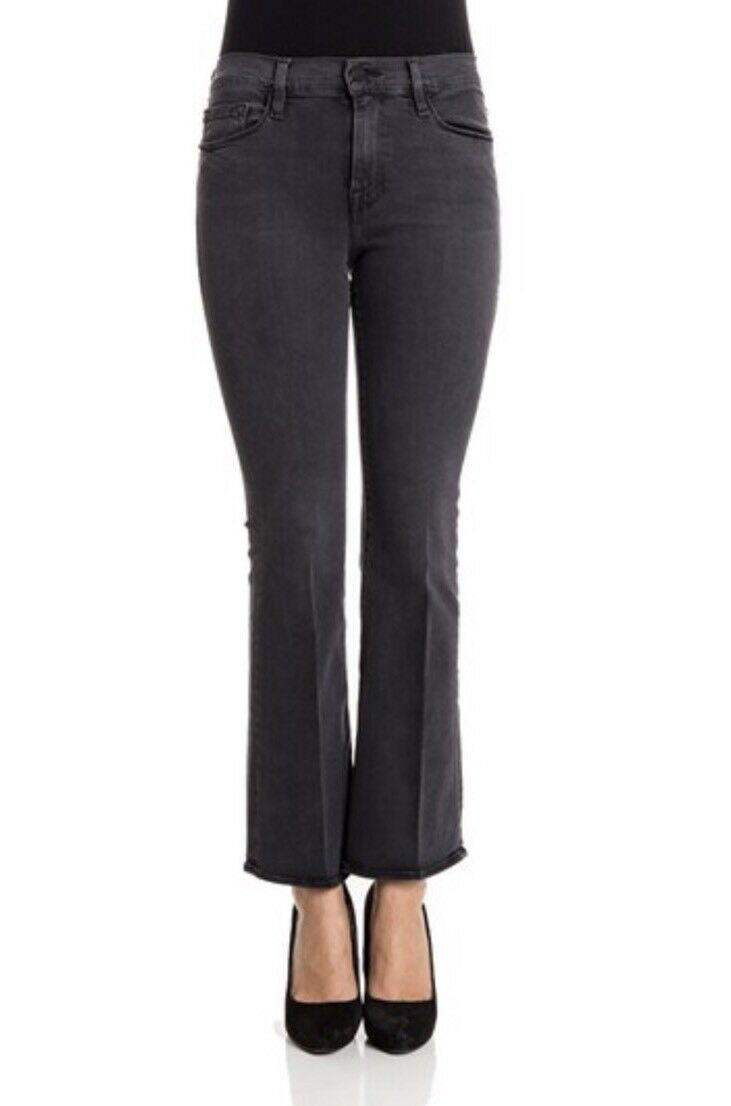 Frame Denim Women's Size 29 Inez Cropped Flare Jeans In Charcoal Blairstone