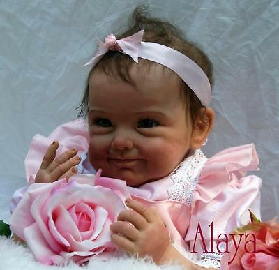 Nicery Reborn Baby Doll Soft Silicone Girl Toy 22in. 55cm Pink Flower