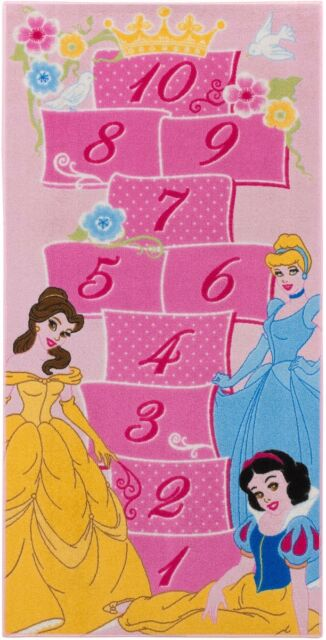 Kids carpet pink princess 80x160 cm